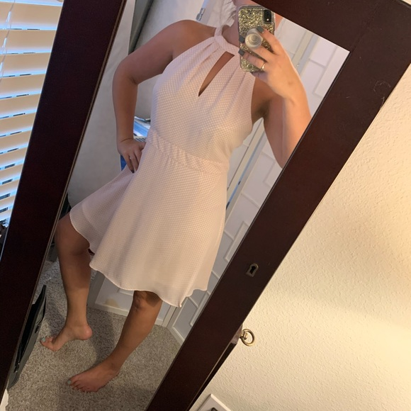 Express Dresses & Skirts - Pink and white polka dot dress EXPRESS